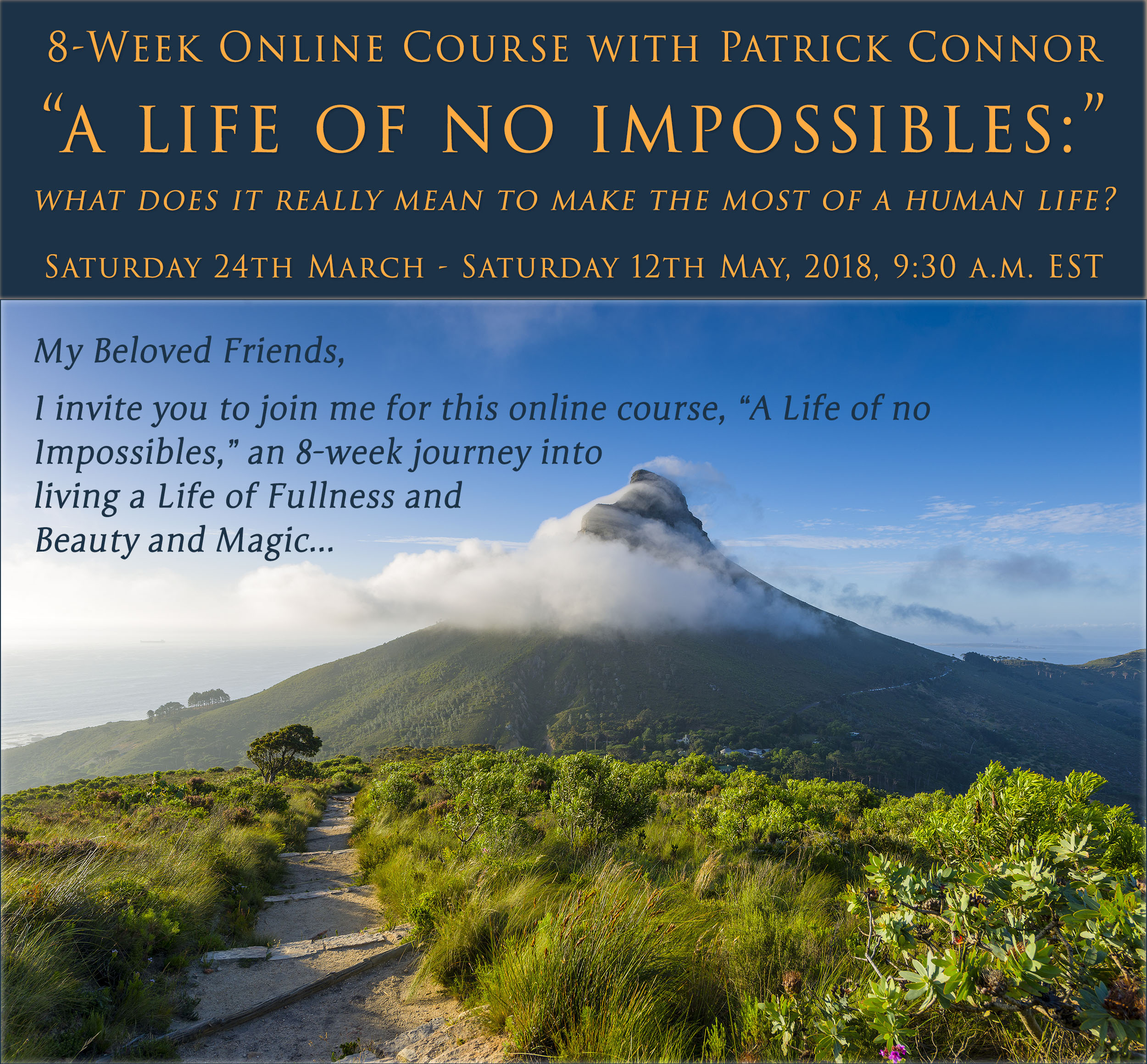 Life of no Impossibles Invitation pg 1